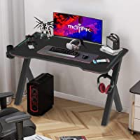 Computer Gaming Table 100 * 60 * 73cm Gaming Desk with RGB Lights Shockproof Sturdy K-Frame Professional Gamer Table…