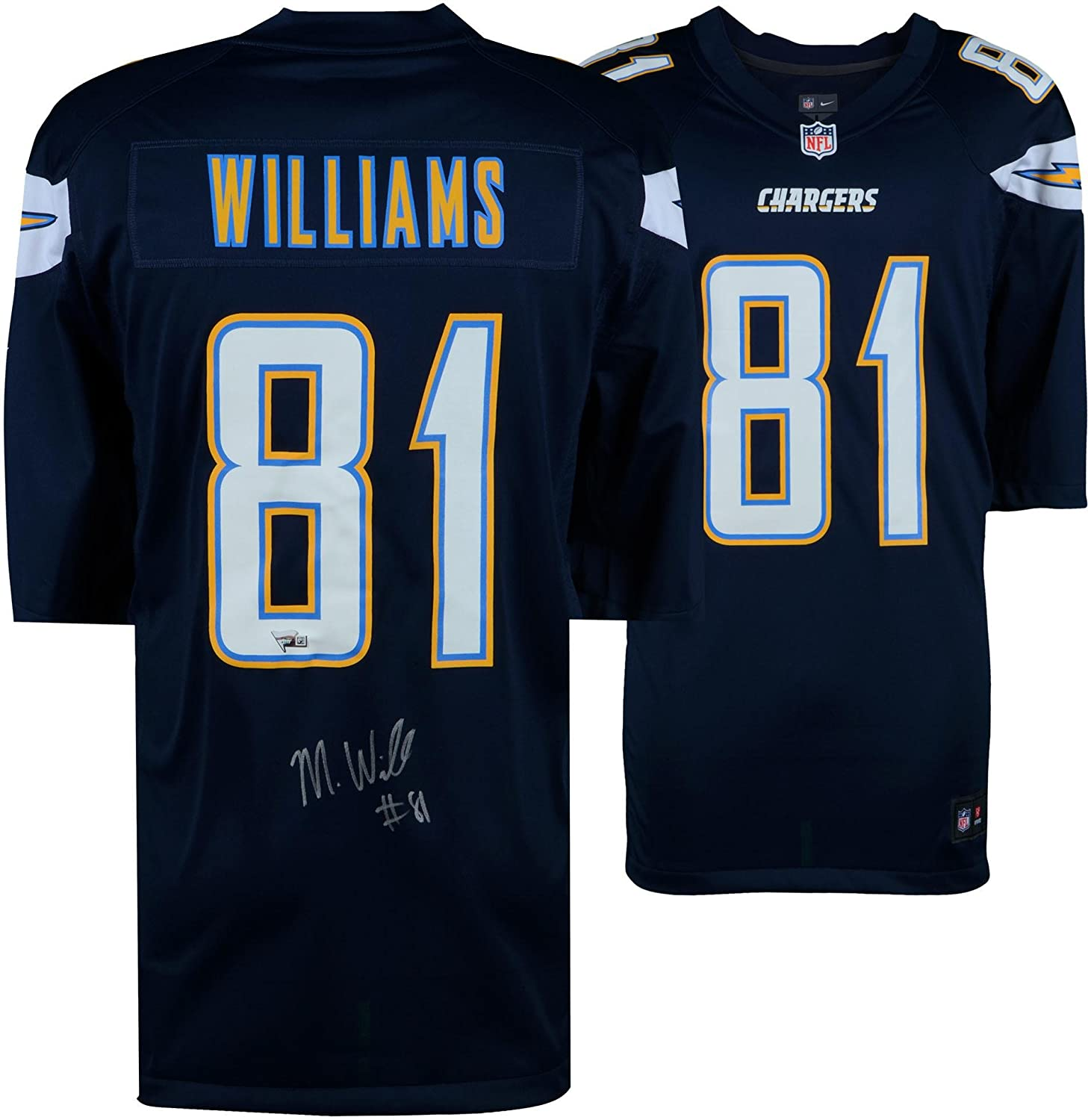 quality design cb5d0 77f80 Mike Williams Los Angeles Chargers Autographed Navy Nike ...