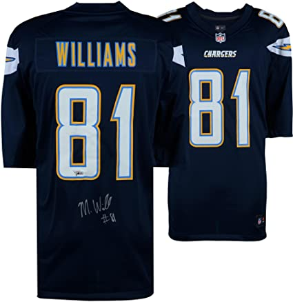 quality design 56483 b94f8 Mike Williams Los Angeles Chargers Autographed Navy Nike ...