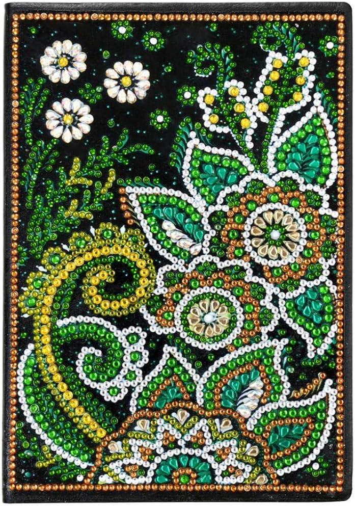 Bear* MJuan-clothing Diamond Decor Painting,Flower Deer Glitter DIY Multi-Shaped Diamond Painting A5 Notebook Diary Book