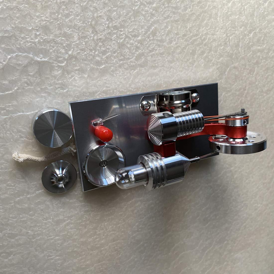 Modell Stirlingmotor mit Generator Stirling Engine DIY Modell Kit Physik Spielzeug f/ür Kinder und Erwachsene PHYNEDI Stirlingmotor Bausatz