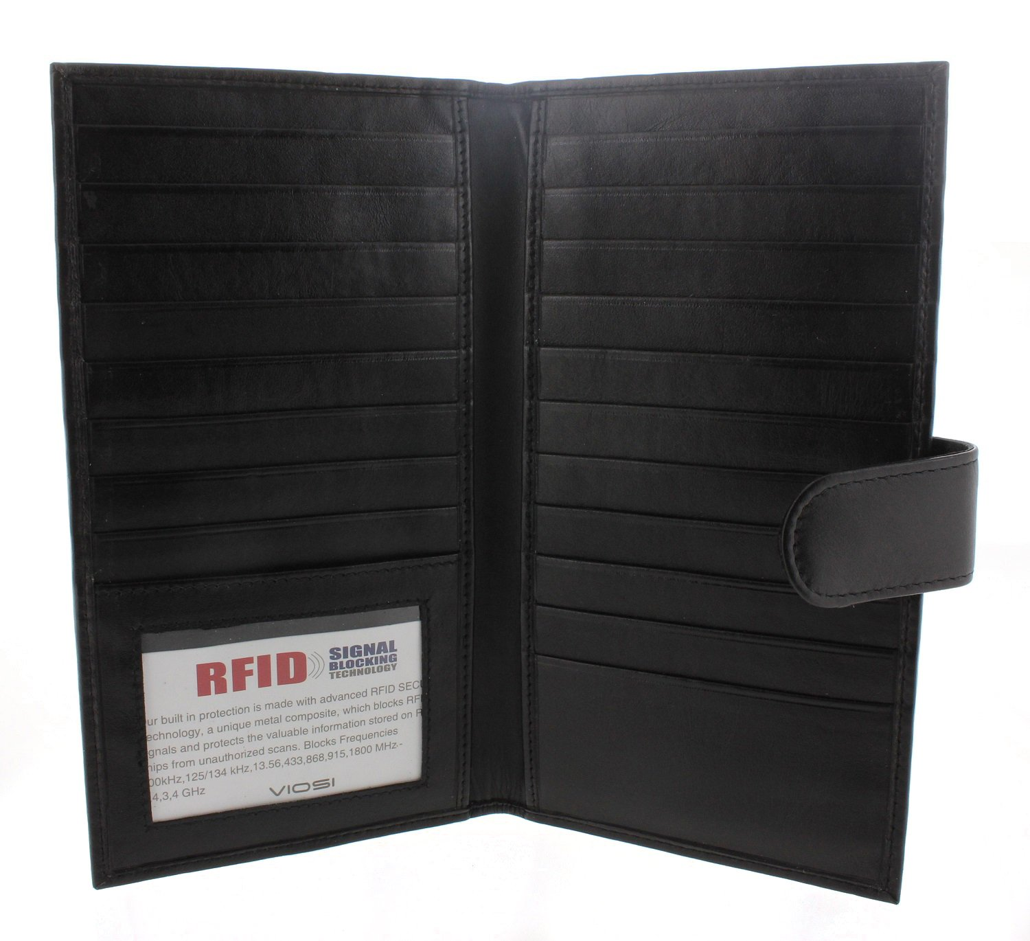 RFID Wallet Genuine Kingston Leather Bifold Credit Card Holder Checkbook Wallet