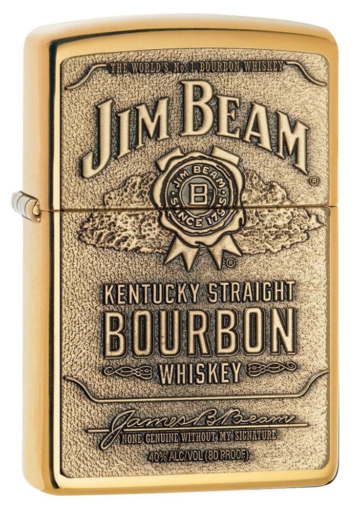 Zippo 1x Feuerzeug Jim Beam Brass Emblem Burbon