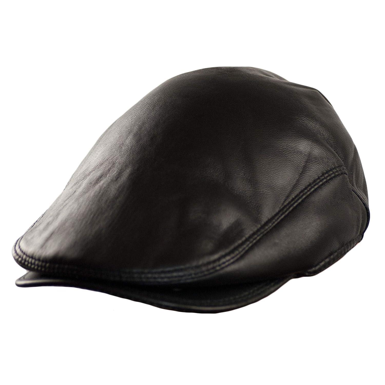 Dazoriginal Basco Scozzese Uomo Cappello da Uomo Berretto Piatto Coppola Pelle