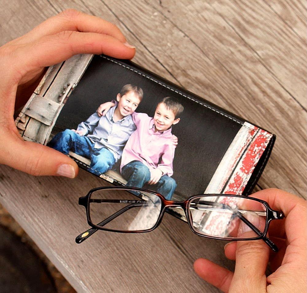 Personalized Baby Elephant Genuine Leather Eyeglass Case