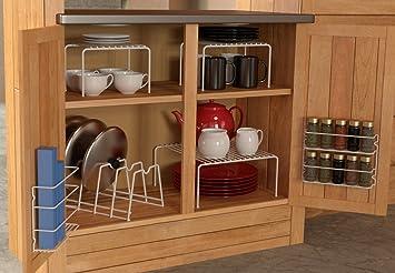 Amazon.com - Grayline 457101, 6 Piece Cabinet organizer Set, White ...