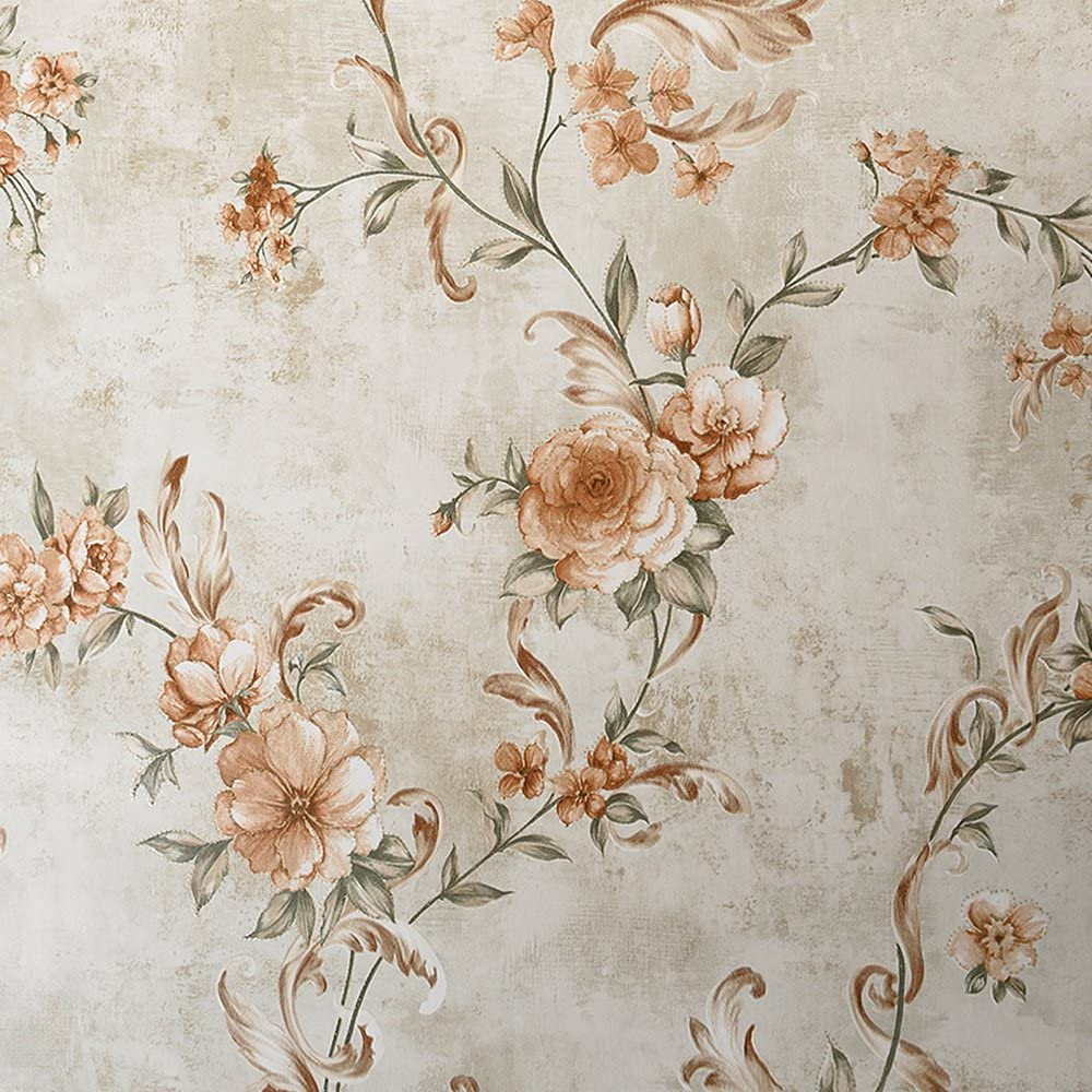 Blooming Wall Vintage Floral Peony Wallpaper Wall Mural For