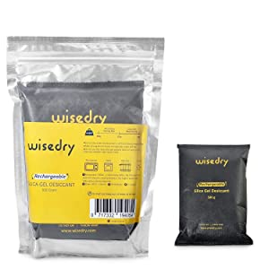 Wisedry 2 x 500 Gram [2.2 lbs] Rechargeable Silica Gel Desiccant Packets Microwave Fast Reactivated Desiccant Bag Large for Car Basement Garage Storage Bathroom Gun Safes RV Moisture Removal Reusable