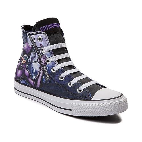 82f4e930d3e4dd Converse Unisex Chuck Taylor All Star Hi Catwoman Sneaker Eggplant Purple  (5 B(M