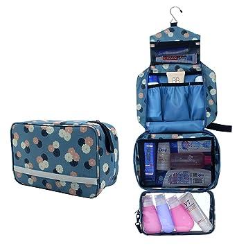 98515670ad61 Toiletry Bag,Hanging Travel Toiletry Bag Folding Portable Cosmetics Travel  Bag Waterproof Bathroom...