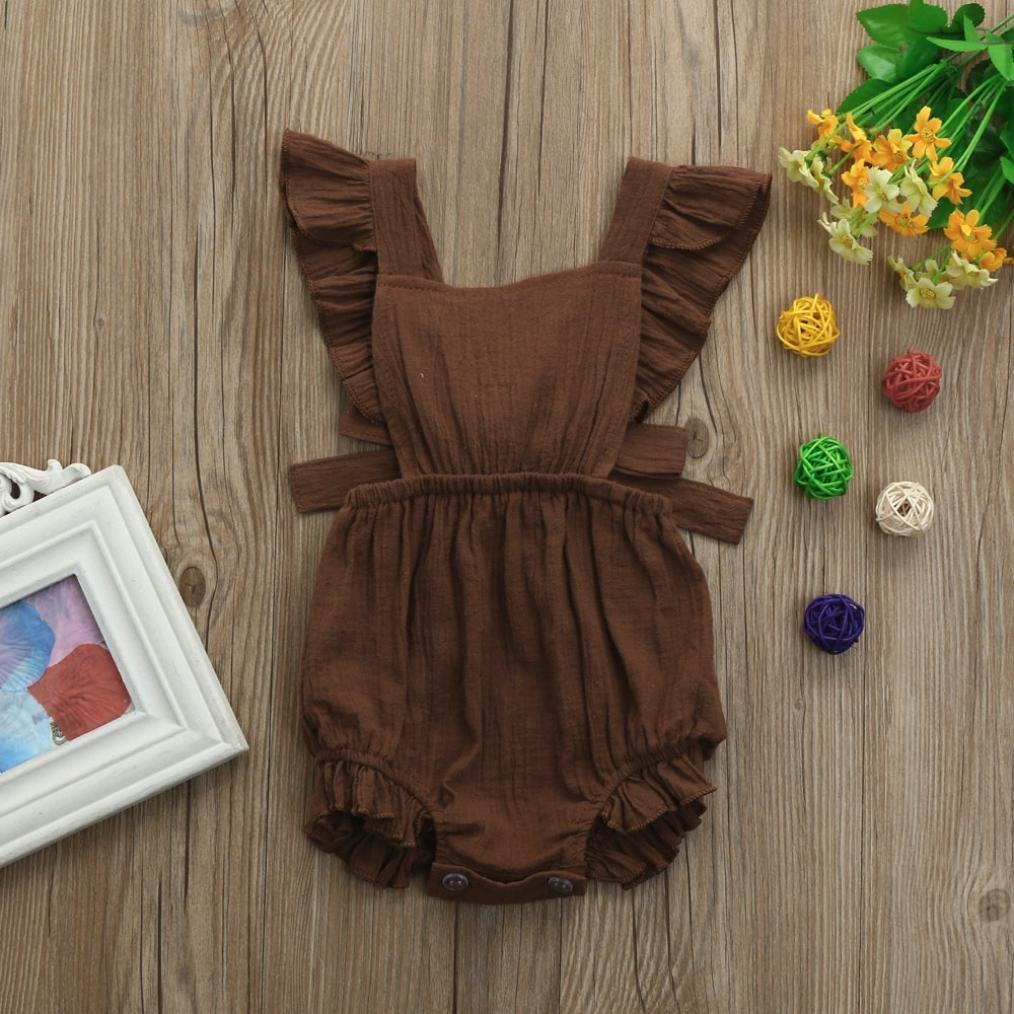 bd104336d Amazon.com  CCSDR Baby Girls Sleeveless Romper
