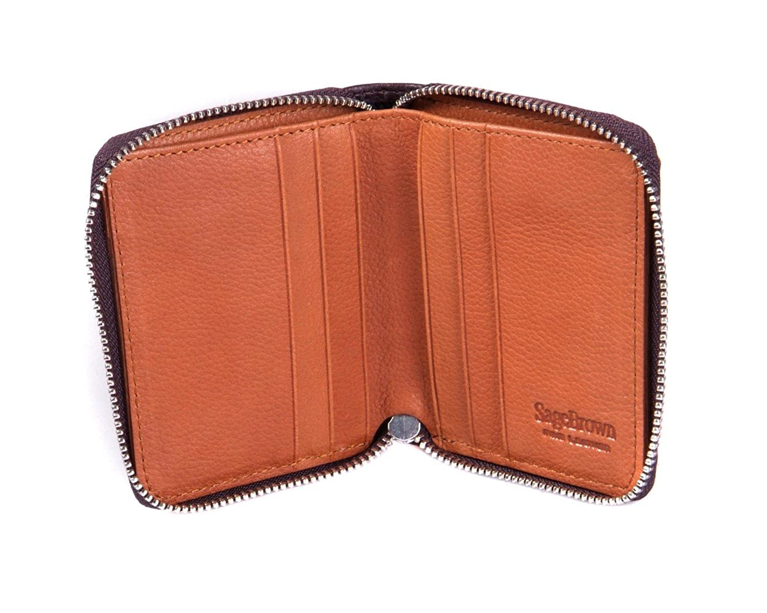 SAGEBROWN Zip Around Wallet
