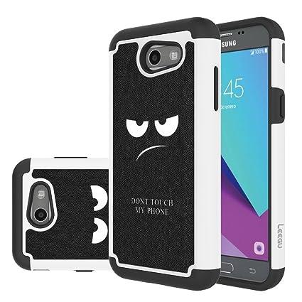 for Samsung Galaxy J3 Emerge Case, J3 Prime / J3 2017 / J3 Mission / J3  Luna Pro / J3 Eclipse/Express Prime 2 / Amp Prime 2 / Sol 2 Case, LEEGU  Dual