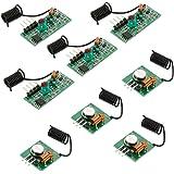 Anpro 4x 433 MHz Empfänger und Funk Sende Modul Superregeneration Wireless Transmitter Modul Einbrecher Alarm Burglar Alarm mit 2 Helical Antenne