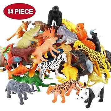 Animales Figuras Juego 54 PiezasIncluyendo De Granjas T1KlJcF3