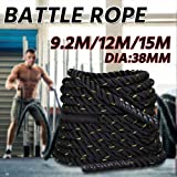 Popamazing 3.8cm x 9M/15M Sports Training Battling Battle Power Rope Bootcamp Exercise Fitness Rope …