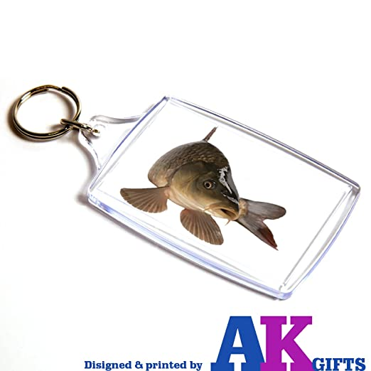 AKGifts Carpa Peces - Doble Cara Llavero: Amazon.es: Hogar