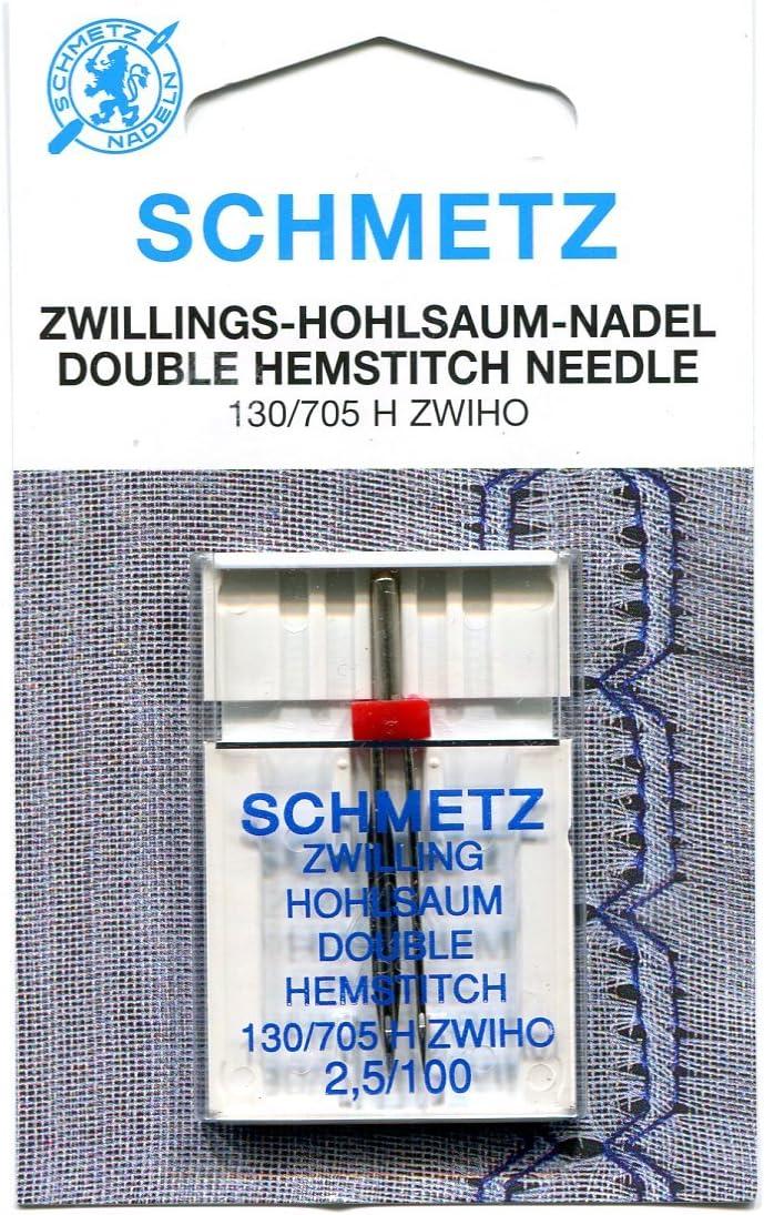 Schmetz Double Hemstitch//Wing Needle Size 16//100