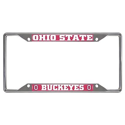 Amazon.com: Fanmats 14871 NCAA Ohio State University Buckeyes Chrome ...