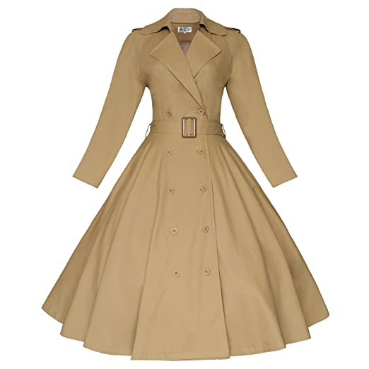 Vintage Coats & Jackets | Retro Coats and Jackets Maggie Tang Vintage Elegant Swing Coat Rockabilly Tunic Classical Party Dress $59.99 AT vintagedancer.com