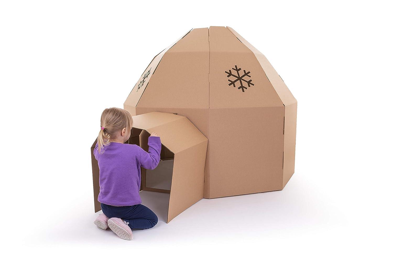 Iglú de Carton casa de juguete (Marron): Amazon.es: Juguetes y juegos