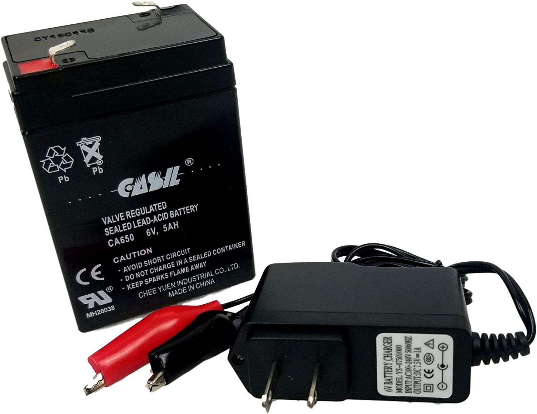 Power-Sonic PS-650 LS Rechargeable SLA Battery 6v 5ah