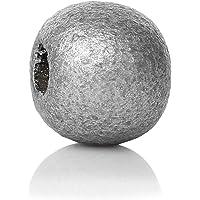 SiAura Material 500Unidades de Madera Perlas 9x 10mm