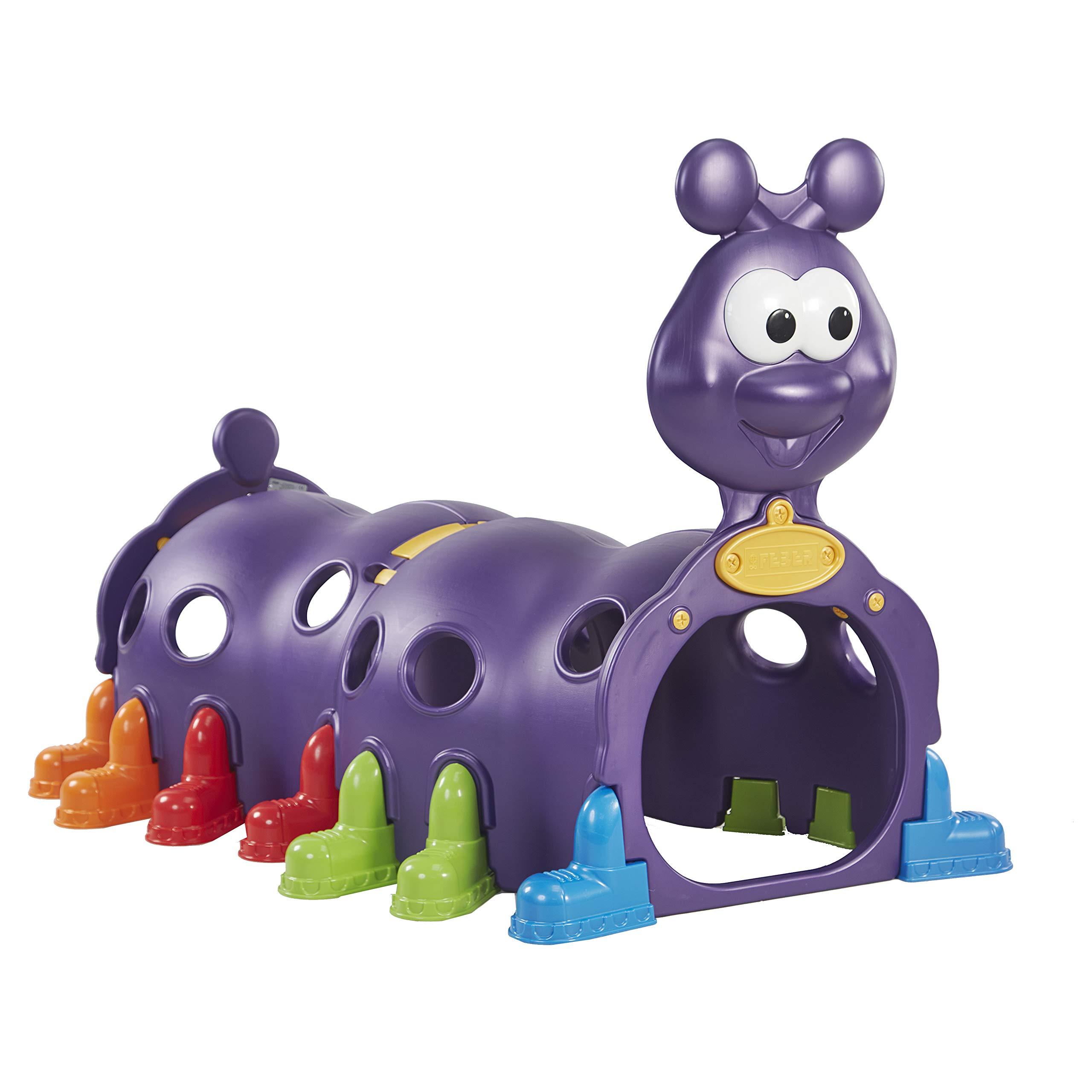 ECR4Kids ELR-12511 Indoor/Outdoor Peek-A-Boo Caterpillar Climbing Play Structure for Kids, Purple