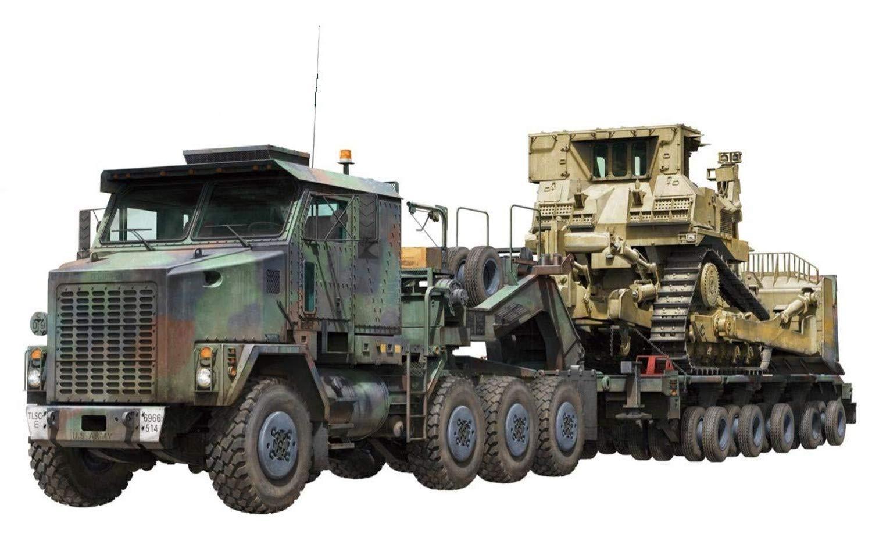 タコム 1/72 アメリカ軍 M1070 & M1000 70トン 戦車運搬車w/D9Rブルドーザー プラモデル TKO5002 B07GYNBMXC