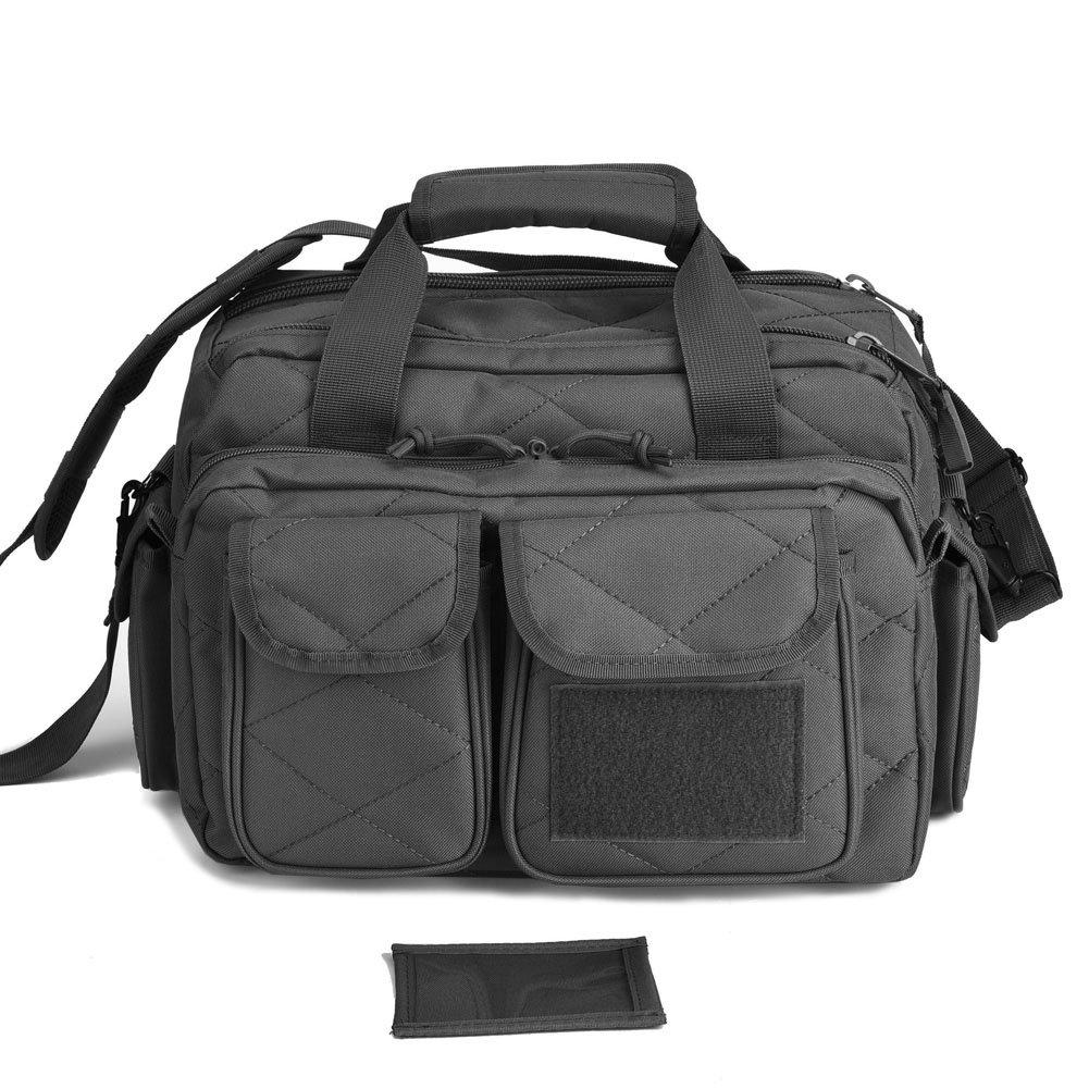 REEBOW TACTICAL Tactical Gun Range Bag Deluxe Pistol Shooting Range Duffle Bags Black by REEBOW TACTICAL (Image #2)