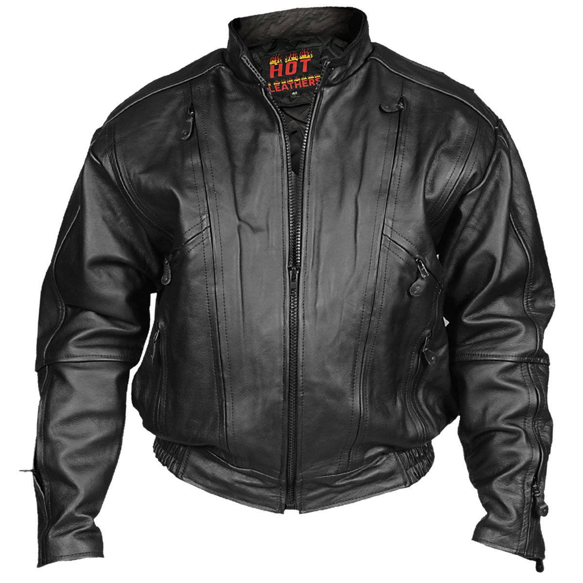 Hot Leathers Men's Vented Motorcycle Jacket