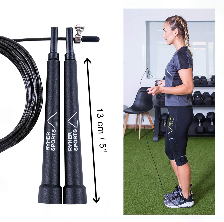 Ryher Cuerda para Saltar Kit - Comba Crossfit, Fitness y ...