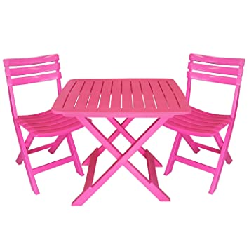 Awesome table de jardin plastique rose gallery awesome - Table jardin rose ...