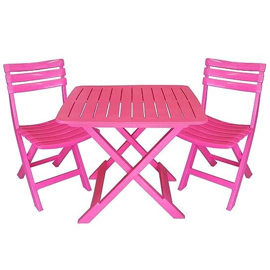 Table de jardin rose fushia stunning table jardin rose - Table de jardin plastique vert saint paul ...
