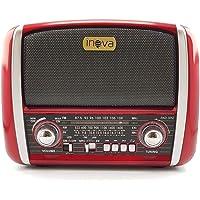 Caixa de Som Rádio Retro AM FM USB Aux c/Lanterna vermelho