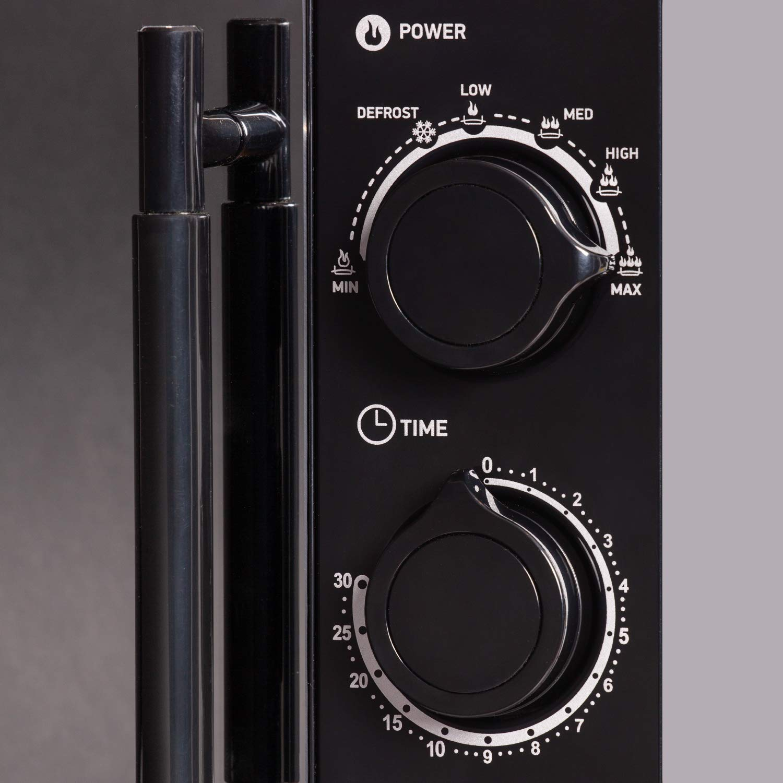 20MWS-773M//B-M 20 Liter 700 Watt BBK Mikrowelle schwarz mit Spiegelt/ür 4 Jahre Garantie