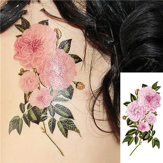 adgkitb 4 Piezas románticas Flores de Rosa Oscura Tatuaje os Falso ...