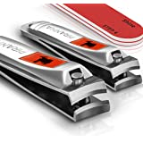 Nail Clipper Set with Nail File and Buffer, Fingernail and Toenail Clippers by Sensible Needs - Nail Cutters - Manicure Set