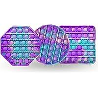 Neo Emporo - Set 3 Tie Dye - Juguete Anti estrés Pop It Fidget Push Bubble Colores, Juguete Sensorial - Juguetes para…