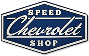 Open Road Brands Chevrolet Speed Shop Embossed Metal Sign
