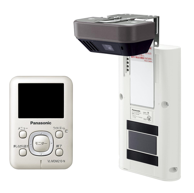 Panasonic ワイヤレスドアモニター ドアモニ シャンパンゴールド ワイヤレスドアカメラ+モニター親機 各1台セット VL-SDM210-N B00HZD5LE0 シャンパンゴールド シャンパンゴールド