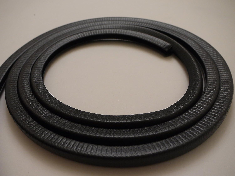 VY23679#KIT1 W17mm x D15mm Van Demon Knock On Trim 5 Metre Black PVC Edging Rubber Strip to Fit 10-12mm Edge