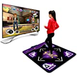 Dance Mat for Kids and Adults for Home - Sinifer Wireless Dance Mat Game TV Non-Slip + 2 Remote Controller, Wireless Double/