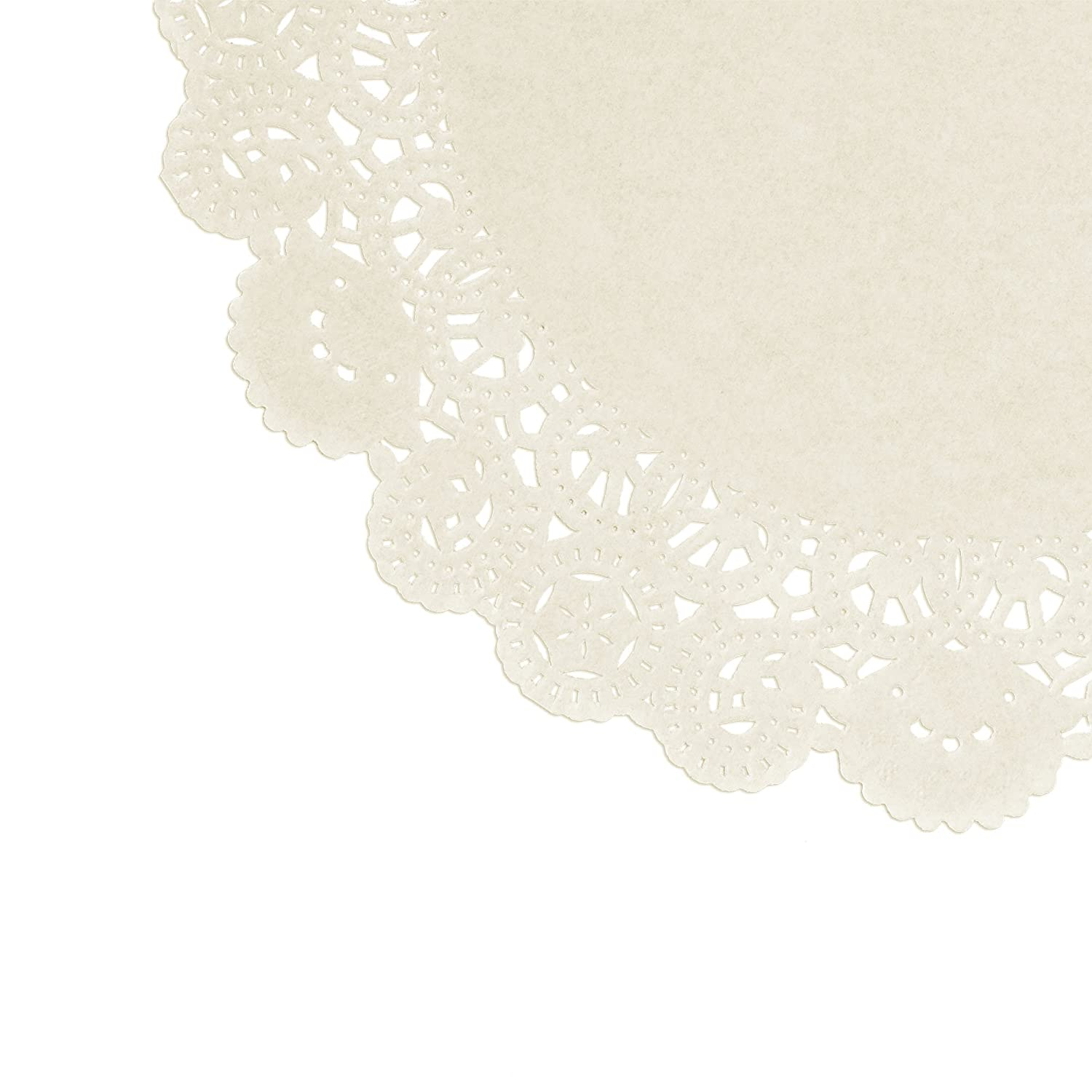 Sweet Creations 72 Count Round Lace Paper Doilies Assorted Sizes 05050 Doyleys