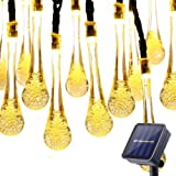 Amazon Price History for:Lalapao Solar Outdoor String Lights 30 LED 19.7ft 8 Modes Water Drop Christmas Fairy String Decor Light Indoor Home Patio Path Lawn Garden Party Wedding Holiday Decorative (Warm White)