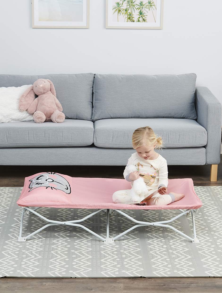 Regalo My Cot Pals Portable Toddler Bed - Cat, Pink, Small Single (5515 DS)