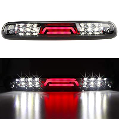 For 07-13 Chevy Silverado/GMC Sierra 1500 2500HD 3500HD LED 3rd Third Tail Brake Light Rear Cargo Lamp High Mount Brake Light (Chrome Housing Smoked Lens): Automotive