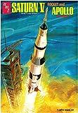 "AMT NASA Saturn V Apollo Moon Rocket Replica 1:200 Scale (21"" Long) Model Kit"