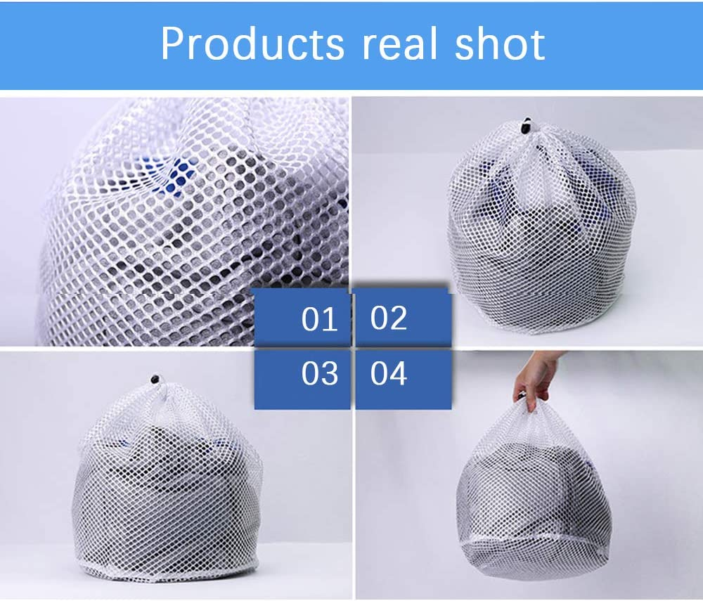 Juego de 3 Extra Grande bolsas para lavadora, 50 x 40 cm,Bolsa de lavander/ía de Malla, Lavado de Red Reutilizable con Cremallera(3XL