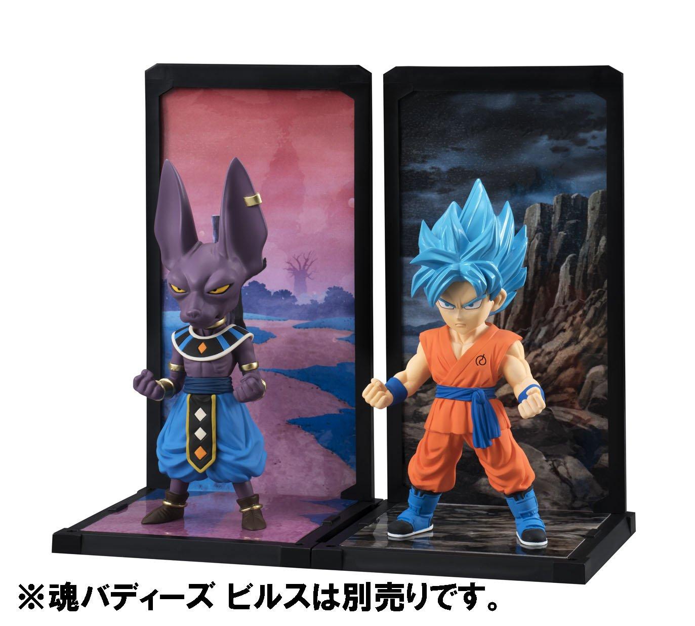 Tamashii Nations Bandai Tamashii Buddies Super Saiyan God Super Saiyan Goku Dragon Ball Super Statue Bluefin Distribution Toys BAN06237